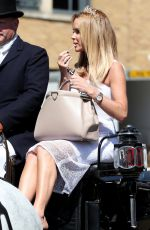 AMANDA HOLDEN at Horsedrawn Carriage Ride Her Royal Wedding Correspondent Role Windsor in Berkshire 05/14/2018