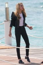 AMBER HEARD at a Film Set in Cannes 05/12/2018
