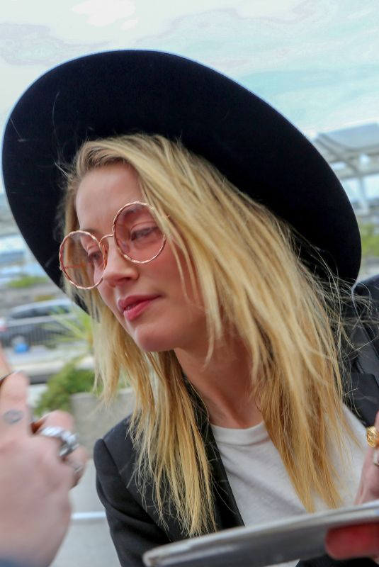 AMBER HEARD at Nice Airport 05/13/2018