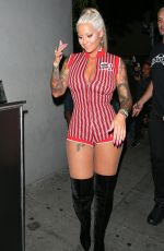 AMBER ROSE at Argyle Club in Hollywood 04/30/2018
