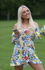 AMBER TURNER on the Set of The Only Way is Essex at Colchester Castle 05/10/2018