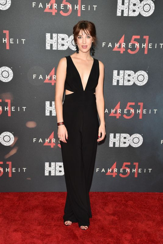 AMY LOUISE WILSON at Fahrenheit 451 Premiere in New York 05/08/2018