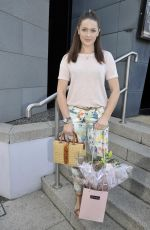 ANNA PASSEY Arrives Jennifer Metcalfes Baby Christening in Liverpool 05/20/2018