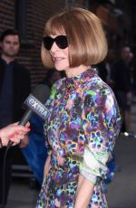 ANNA WINTOUR Arrives at Late Show with Stephen Colbert in New York 05/09/2018