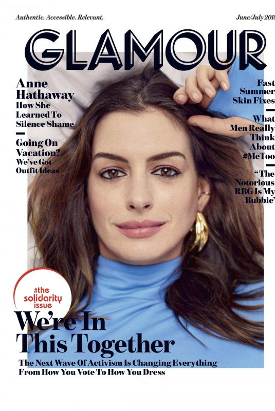 ANNE HATHAWAY in Glamour Magazine, June 2018 Issue