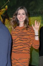 ANNE HATHAWAY Out for Dinner in New York