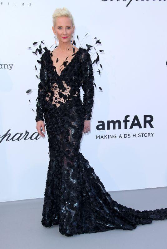 ANNE HECHE at Amfar's 25th Cinema Against Aids Gala at Cannes Film Festival 05/17/2018