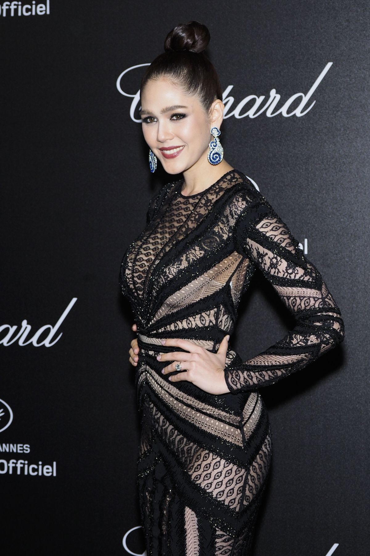 ARAYA HARGATE At Secret Chopard Party At 71st Cannes Film