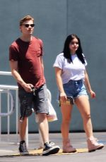 ARIEL WINTER and Levi Meaden Leaves Petco in Los Angeles 05/10/2018