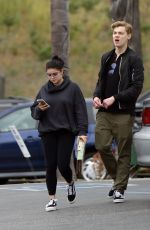ARIEL WINTER and Levi Meaden Shopping at Urban Outfitters in Studio City 05/02/2018