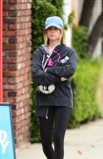 ASHLEY TISDALE Heading to a Gym in Los Angeles 05/12/2018