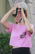 ASHLEY TISDALE Heading to a Spa in Los Angeles 05/18/2018