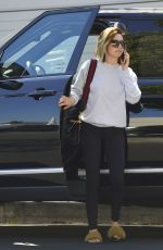 ASHLEY TISDALE Show New Short and Blonde Hairstyle in Los Angeles 05/15/2018