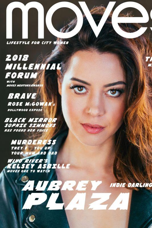 AUBREY PLAZA in New York Moves Magazine, May 2018