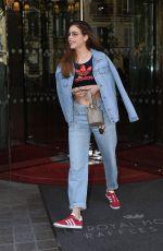 BARBARA PALVIN Leaves Royal Monceau Hotel in Paris 05/03/2018