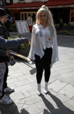 BEBE REXHA Arrives at Global Radio in London 05/03/2018