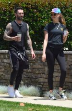 BEHATI PRINSLOO and Adam Levine Out and About in Los Angeles 05/27/2018