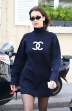 BELLA HADID Arrives at Her Hotel in Paris 05/02/2018