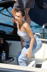 BELLA HADID Arrives in Monaco by Boat 05/25/2018