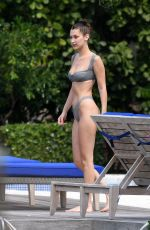 BELLA HADID in Bikini at a Pool in Miami 04/30/2018