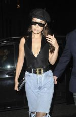 BELLA HADID in Ripped Jeans Out in London 05/29/2018