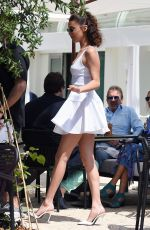 BELLA HADID Out for Lunch at Hotel Martinez in Cannes 05/10/2018