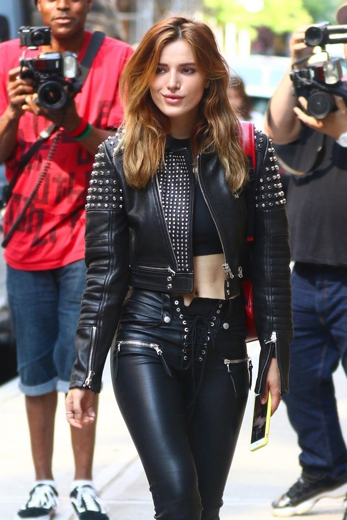 bella thorne leather
