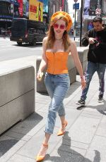 BELLA THORNE at Times Square in New York 05/25/2018