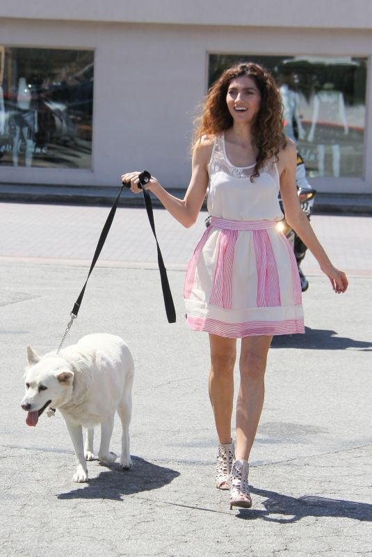 BLANCA BLANCO Out with Her Dog in Malibu 05/09/2018