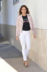 BROOKE BURKE Heading to Steve Harvey Show in Beverly Hills 05/14/2018