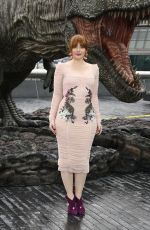 BRYCE DALLAS HOWARD at Jurassic World: Fallen Kingdom Photocall in London 05/24/2018