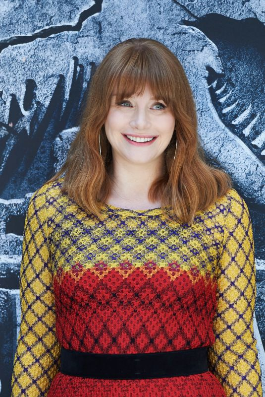 BRYCE DALLAS HOWARD at Jurassic World: Fallen Kingdom Photocall in Madrid 05/21/2018