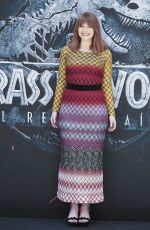 BRYCE DALLAS HOWARD at Jurassic World: Fallen Kingdom Photocall in Madrid 05/21/2018