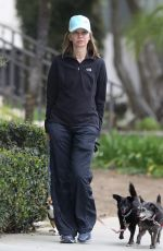 CALISTA FLOCKHART Out with Her Dogs in Santa Monica 04/30/2018