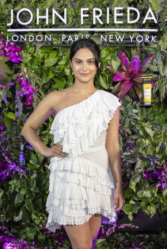 CAMILA MENDES Celebrates Collaboration with John Frieda Hair Care in Miami 05/18/2018