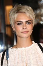 CARA DELEVINGNE at Longchamp Fifth Avenue Store Opening in New York 05/03/2018