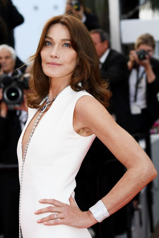 CARLA BRUNI at Sink or Swim Premiere at 2018 Cannes Film Festival 05/13/2018