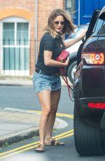 CAROLINE FLACK in Denim Shorts Out in London 05/23/2018