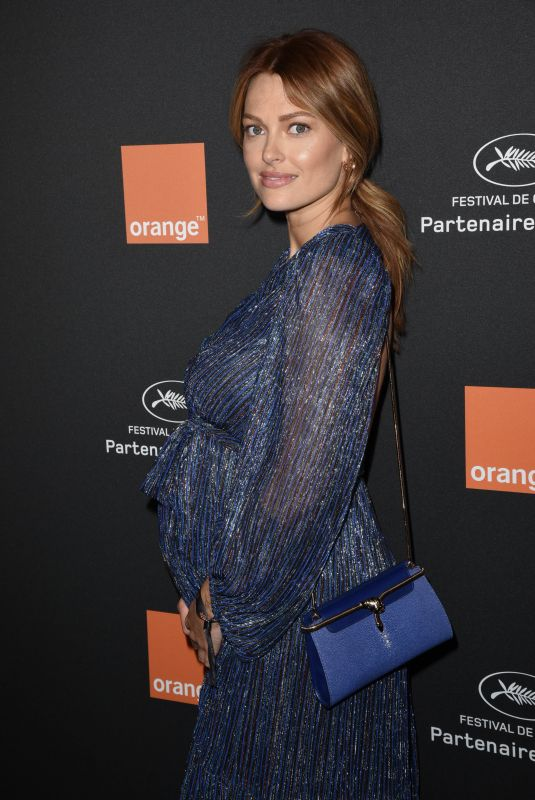 CAROLINE RECEVEUR at Orange Party at 71th Annual Cannes Film Festival 05/12/2018