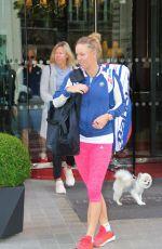 CAROLINE WOZNIACKI Leaves Her Hotel in Paris 05/30/2018