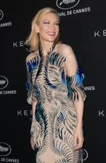CATE BLANCHETT at Kering Dinner at 71st Cannes Film Festival 05/13/2018