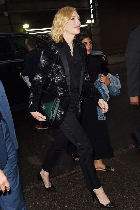 CATE BLANCHETT Night Out in New York 05/22/2018