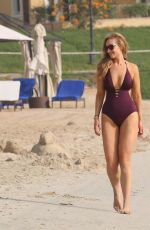 CATHERINE TYLDESLEY in Swimsuit at a Beach in Abu Dhabi 05/05/2018