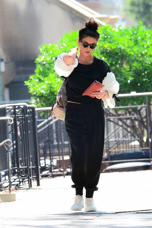 CATHERINE ZETA JONES Heading to a Gym in New York 05/15/2018
