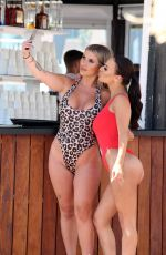 CHANTELLE CONNELLY and LOIS MOLLOY in Swimsuits at a Pool in Marbella 05/08/2018