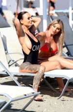 CHANTELLE CONNELLY and LOIS MOLLY on the Beach in Marbella 05/10/2018