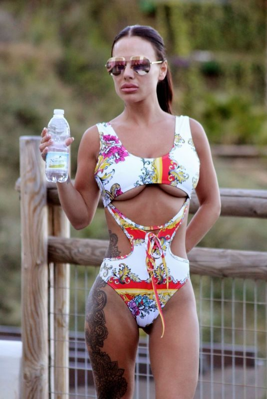 CHANTELLE CONNELLY in Swimsuit at a Pool in Marbella 05/17/2018