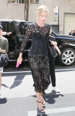 CHARLIZE THERON Arrives at Her Hotel in New York 05/03/2018