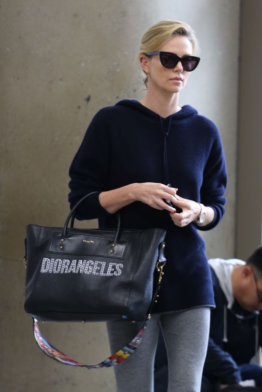 CHARLIZE THERON at Los Angeles International Airport 05/30/2018