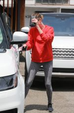 CHARLIZE THERON Leaves a Hair Salon in Los Angeles 05/08/2018
